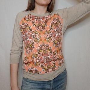 J. Crew Floral Merino Wool Sweater